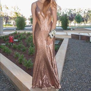 Dresses & Skirts - LIQUID GOLD PROM DRESS
